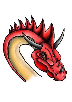 rudý drak